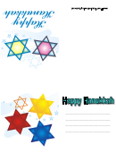 Happy Hanukkah Card Template