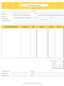 Yellow Clothing Invoice Template