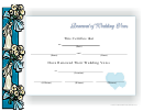 Renewal Of Wedding Vows Certificate Template - Blue Border