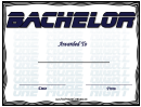 Bachelor Award Certificate Template