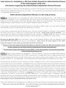 Request For An Administrative Review Of The Support Order