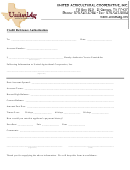 United Ag Credit Reference Authorization