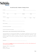 Social Security Number Change Form