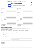 Children's Services Enrolment Form Part B: Family Form