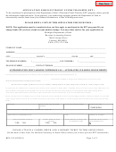Form Bfs-152 (02/2011) - Application For Electronic Funds Transfer - Form