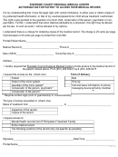 Authorization For Patient To Access Their Medical Record Form