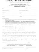 Application For Sign Permit Form