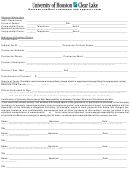 Revenue Contract Coversheet And Approval Form - University Of Houston