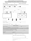 Mark And Brand Application/certificate Form - County Of Palo Pinto, Texas