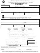 Form Hc-500 - Hazardous Chemical Inventory Fee Return