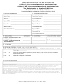 Prior Authorization Of Benefits (pab) Form