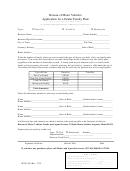 Application For A Dealer Family Plate-bureau Of Motor Vehicl Form Es