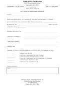 Out Of State Refund Request Form - West Shore Tax Bureau