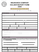Form Up-1 Ins - Insurance Company Holder Report Form - 2009