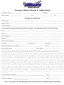 Emergency Medical Release & Liability Waiver Form