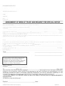 Assignment Of Deed Of Trust And Request For Special Notice Form