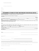 Assignment Of Deed Of Trust And Request For Special Notice - State Of California