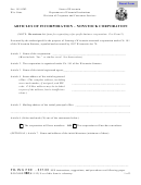 Form Dfi/corp/102 - Articles Of Incorporation - Nonstock Corporation