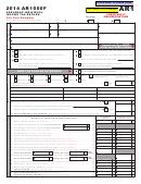 Form Ar1000f - Arkansas Individual Income Tax Return - 2014