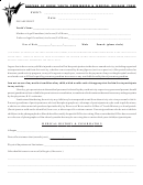 Diocese Of Boise Youth Permission & Medical Release Form
