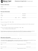 Employment Application Form (classified Staff)