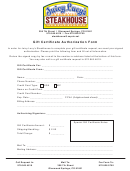 Gift Certificate Authorization Form
