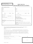 Holder Claim And Affidavit For Recovery Of Property Form