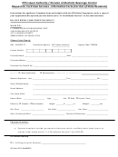 Sla Form Fpl1 - Request Form For Fingerprinting Services - Out Of State Residents Only 2010