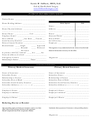 Patient Information Sheet-insurance Information Form