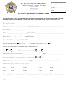 Request For Residential Vacation Checks Form