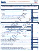 Form 1040n Draft - Nebraska Schedule I - Nebraska Adjustments To Income - 2014