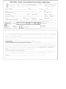 2010-2011 Maine Nonresident Snowmobile Application Form