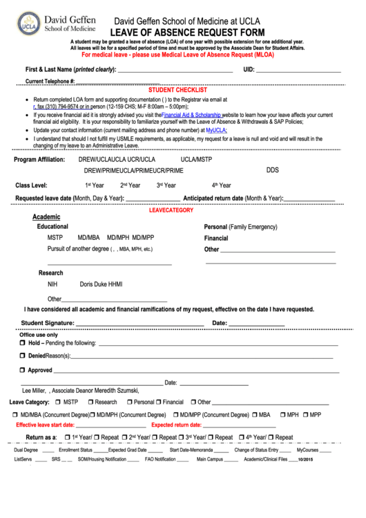top 14 medical leave of absence form templates free to download in