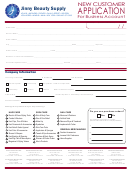 New Customer Application For Business Account Form