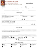 Health And Developmental History Initial Assessment Form
