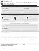Authorization To Release Health Information Form