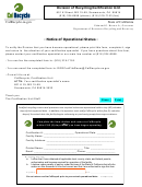 Notice Of Operational Status Form 2014