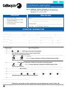 Certification Application For Collection & Community Service Programs Form 2010