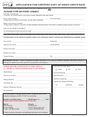 Form Hhs-92 - Application For Certified Copy Of Death Certificate