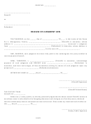 Release Of Judgment Lien Form