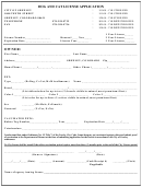 Dog And Cat License Application Form
