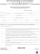 Form Mde/wma/bwd/res - Application For License Reinstatement