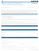 Form 50-305 - Military Property Owner's Request For Waiver Of Delinquent Penalty And Interest