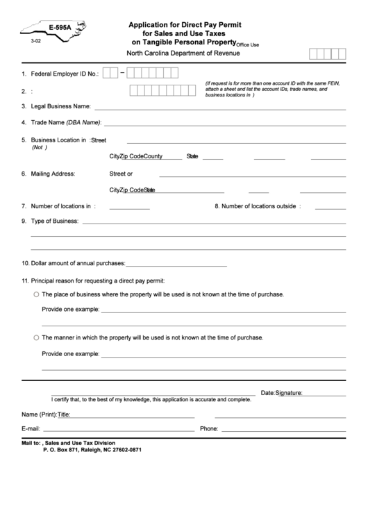 15 Nc Sales Tax Form Templates free to download in PDF, Word and Excel