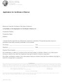 Form Ftb 3557-application For Certificate Of Revivor