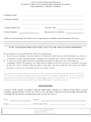 Utility Users Tax Exemption Request Form For Federal Credit Unions - City Of Huntington Beach