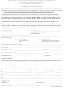Temporary Electrical Power Letter Template - City Of Fort Worth Planning & Development Department