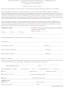 Temporary Gas Service Letter Template - City Of Fort Worth Planning & Development Department