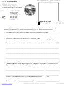 Certificate Of Amendment For Foreign Limited Partnership Or Limited Liability Limited Partnership Form - State Of Montana Revised: 10/25/2011