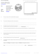 Articles Of Termination For A Limited Liability Company - Montana Secretary Of State